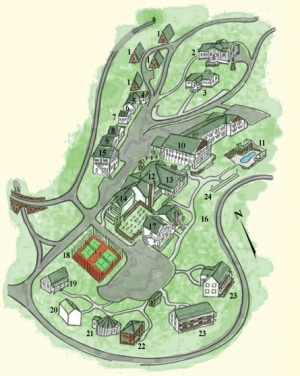 Switzerland Inn site map